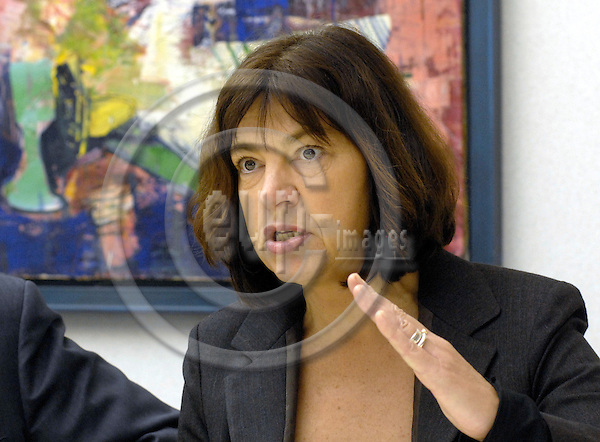 Brussels-Belgium - 30 January 2007---Pressconference in the EP by The Greens / European Free Alliance on: Plant fuels - energy dream or environmental and social nightmare? Here, German MEP Rebecca HARMS---Photo: Horst Wagner/eup-images