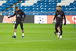 PSG's Players Neymar and Mbappe during training session. <br /> November 25 ,2019.<br /> (ALTERPHOTOS/David Jar)