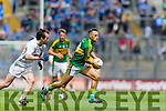 Barry John Keane, Kerry in action against Ollie Lyons, Kildare in the All Ireland Quarter Final at Croke Park on Sunday.