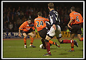 23/11/2002                   Copyright Pic : James Stewart.File Name : stewart-dundee v utd03..HENANDEZ (PART HIDDEN) SCORES THE THIRD.....Payments to :-.James Stewart Photo Agency, 19 Carronlea Drive, Falkirk. FK2 8DN      Vat Reg No. 607 6932 25.Office     : +44 (0)1324 570906     .Mobile  : +44 (0)7721 416997.Fax         :  +44 (0)1324 570906.E-mail  :  jim@jspa.co.uk.If you require further information then contact Jim Stewart on any of the numbers above.........