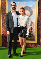 "LOS ANGELES, USA. January 11, 2020: Seth Rollins & Becky Lynch at the premiere of ""Dolittle"" at the Regency Village Theatre.<br /> Picture: Paul Smith/Featureflash"