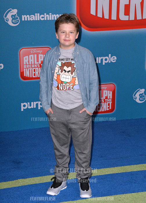 LOS ANGELES, CA. November 05, 2018: Maxwell Simkins at the world premiere of &quot;Ralph Breaks The Internet&quot; at the El Capitan Theatre.<br /> Picture: Paul Smith/Featureflash