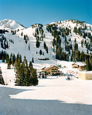 USA, Utah, view of the mountain base, Alta Ski Resort