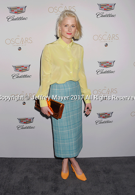 LOS ANGELES, CA - FEBRUARY 23: Actress Mamie Gummer attends Cadillac's 89th annual Academy Awards celebration at Chateau Marmont on February 23, 2017 in Los Angeles, California.