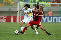 The United States' Mikkel Diskerud (11) struggles to keep the ball away from Germany's Lewis Holtby (10) during the FIFA Under 20 World Cup Group C Match between the United States and Germany at the Mubarak Stadium on September 26, 2009 in Suez, Egypt. The US team lost to Germany 3-0.