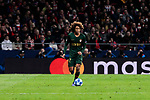 AS Monaco's Han-Noah Massengo during UEFA Champions League match between Atletico de Madrid and AS Monaco at Wanda Metropolitano Stadium in Madrid, Spain. November 28, 2018. (ALTERPHOTOS/A. Perez Meca)