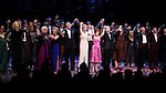 Mary Beth Peil, Terri White, Rosalind Eias. Elaine Paige, Ron Raines, Jan Maxwell, Bernadette Peters, Danny Burstein, Jayne Houdyshell, Susan Watson, Don Correia & Michael Hayes.during the Broadway Opening Night Curtain Call for 'Follies'  in New York City.
