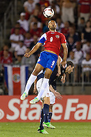 Costa Rica forward Alvaro Saborio (9). The United States defeated Costa Rica 1-0 during a CONCACAF Gold Cup group B match at Rentschler Field in East Hartford, CT, on July 16, 2013.