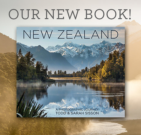 New Zealand landscape photography book, New Zealand a Photographic Journey.