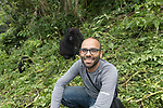 Ruben Rassi With Mountain Gorillas