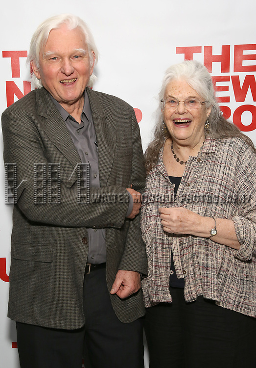 David Rabe and Lois Smith attends the World Premiere of Hamish Linklater's 'The Whirligig' at Green Fig's Social Drink and Food Club Terrace on May 21, 2017 in New York City.