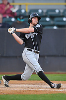 Lansing Lugnuts J. B. Woodman (12) swings during a game against the Clinton Lumberkings at Ashford University Field on May 8, 2017 in Clinton, Iowa.  The Lugnuts won 4-3.  (Dennis Hubbard/Four Seam Images)
