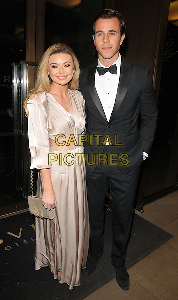 Georgia Toffolo and boyfriend at the Glass Magazine 7th Anniversary Dinner, Bulgari Hotel, Knightsbridge, London, England, UK, on Wednesday 25 January 2017.<br /> CAP/CAN<br /> &copy;CAN/Capital Pictures