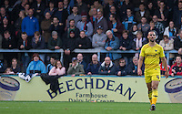 Kemar Roofe of Oxford United during the Sky Bet League 2 match between Wycombe Wanderers and Oxford United at Adams Park, High Wycombe, England on 19 December 2015. Photo by Andy Rowland.