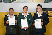 Rugby Union Girls Finalists. ASB College Sport Young Sportsperson of the Year Awards 2006, held at Eden Park on Thursday 16th of November 2006.<br />