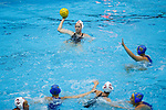 INDIANAPOLIS, IN - MAY 14: Shannon Cleary (12) of Stanford University looks to pass during the Division I Women's Water Polo Championship held at the IU Natatorium-IUPUI Campus on May 14, 2017 in Indianapolis, Indiana. Stanford edges UCLA, 8-7, to win fifth women's water polo title in the past seven years. (Photo by Joe Robbins/NCAA Photos/NCAA Photos via Getty Images)