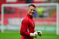 Lincoln City's Paul Farman during the pre-match warm-up <br /> <br /> Photographer Andrew Vaughan/CameraSport<br /> <br /> The Carabao Cup First Round - Rotherham United v Lincoln City - Tuesday 8th August 2017 - New York Stadium - Rotherham<br />  <br /> World Copyright &copy; 2017 CameraSport. All rights reserved. 43 Linden Ave. Countesthorpe. Leicester. England. LE8 5PG - Tel: +44 (0) 116 277 4147 - admin@camerasport.com - www.camerasport.com