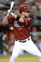 Arizona Diamondbacks second baseman Aaron Hill (2) during a game against the Washington Nationals at Chase Field on September 29, 2013 in Phoenix, Arizona.  Arizona defeated Washington 3-2.  (Mike Janes/Four Seam Images)