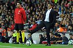 League Santander 2017/2018. Game: 03.<br /> FC Barcelona vs RCD Espanyol: 5-0.<br /> Ernesto Valverde.