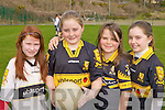 Providing the girl power at the Dr Crokes GAA Easter football skills camp on Thursday was l-r: Nancy Moore, Dawn Cronin, Sarah Byrnes and Ri?onach de Bhillis