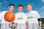 Jack McCarthy, Cian Sayers and Tommy Sheehy at the Mounthawk Basketball Camp on Friday.