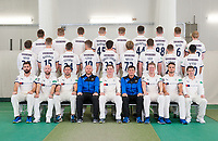 Picture by Allan McKenzie/SWpix.com - 02/04/2018 - Cricket - Yorkshire County Cricket Club Media Day 2018 - Headingley Cricket Ground, Leeds, England - The Yorkshire Cricket CLub Team Photo 2018 with Shire Beds.