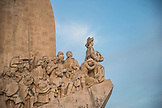PORTUGAL, Lisbon, a westren profile of the Early Navigators, part of Monument to the Discoveries, in the area of Belem