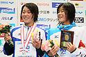 (L to R) Miho Takahashi (JPN), Miyu Otsuka (JPN), APRIL 2, 2012 - Swimming : JAPAN SWIM 2012 Women's 400m Individual Medley Victory Ceremony at Tatsumi International Swimming Pool, Tokyo, Japan. (Photo by Yusuke Nakanishi/AFLO SPORT) [1090]