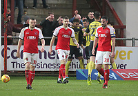 Fleetwood Town's players look dejected<br /> <br /> Photographer Mick Walker/CameraSport<br /> <br /> The EFL Sky Bet League One - Fleetwood Town v Scunthorpe United - Saturday 26th January 2019 - Highbury Stadium - Fleetwood<br /> <br /> World Copyright © 2019 CameraSport. All rights reserved. 43 Linden Ave. Countesthorpe. Leicester. England. LE8 5PG - Tel: +44 (0) 116 277 4147 - admin@camerasport.com - www.camerasport.com