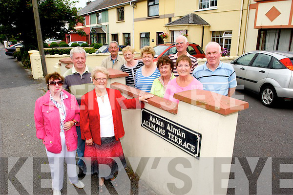 Allmans Terrace residents in Killarney looking forward to 75th anniversary celebrations.  Included are Kitty Moynihan , James O'Connor, Vera O'Connor, Joan Doran, Mary Philbin, Mai Carton, Ann Peters, Dermot Roche, James O'Connor and Jimmy Doran.