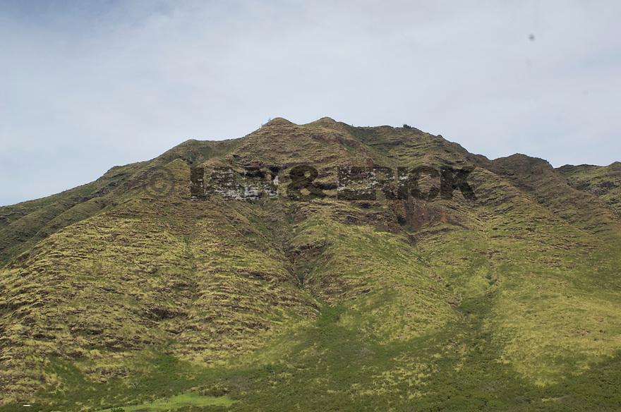 Mountain at Kanea Point in Makaha, Hawaii
