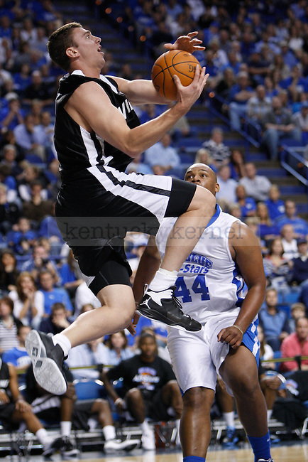 Villian Tyler Hansbrough (5) goes for a layup during the second half of the Big Blue All-Stars vs. Villians charity basketball game at Rupp Arena in Lexington, Ky., Oct. 24, 2011. Photo by Brandon Goodwin | Staff