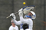 01 March 2015: Duke's Kelsey Duryea. The Duke University Blue Devils hosted the University of Notre Dame Fighting Irish on the West Turf Field at the Duke Athletic Field Complex in Durham, North Carolina in a 2015 NCAA Division I Women's Lacrosse match. Duke won the game 17-3.