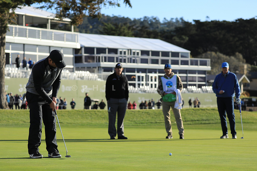 Paul Casey (ENG) during the final round of the AT&T Pro-Am, Pebble Beach Golf Links, Monterey, USA. 11/02/2019<br /> Picture: Golffile | Phil Inglis<br /> <br /> <br /> All photo usage must carry mandatory copyright credit (© Golffile | Phil Inglis)
