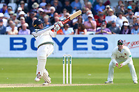 Jack Leaning hits four runs for Yorkshire during Yorkshire CCC vs Essex CCC, Specsavers County Championship Division 1 Cricket at Scarborough CC, North Marine Road on 7th August 2017
