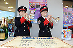 Young Cornet players Conrad Stone (11) and Cassie Collins (11) from St. Fachtna's Silver Band perform ast the Drinagh 21st anniversary celebration in Eurospar, Skibbereen in West Cork at the weekend.<br /> Picture by Don MacMonagle<br /> <br /> repro free photo from Eurospar<br /> further information from cmeany@bwg.ie