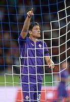 FUSSBALL   INTERNATIONAL   UEFA EUROPA LEAGUE   SAISON 2013/2014    Qualifikation Grasshopper Club Zuerich - AC Florenz      22.08.2013  JUBEL Mario Gomez (AC Florenz)