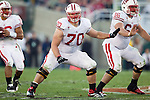 Wisconsin Badgers offensive lineman Kevin Zeitler (70) and Peter Konz (77) during the 2012 Rose Bowl NCAA football game against the Oregon Ducks in Pasadena, California on January 2, 2012. The Ducks won 45-38. (Photo by David Stluka)
