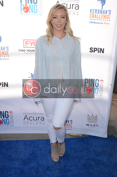 Natasha Barritt<br /> at Clayton Kershaw's Ping Pong 4 Purpose Celebrity Tournament to Benefit Kershaw's Challenge, Dodger Stadium, Los Angeles, CA 08-11-16<br /> David Edwards/DailyCeleb.com 818-249-4998