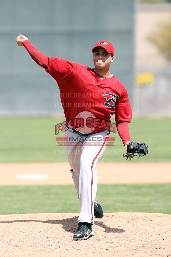 Miguel Pena, Arizona Diamondbacks 2010 minor league spring training..Photo by:  Bill Mitchell/Four Seam Images.