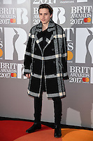 Brooklyn Beckham<br /> arrives for the BRIT Awards 2017 held at the O2 Arena, Greenwich, London.<br /> <br /> <br /> &copy;Ash Knotek  D3233  22/02/2017
