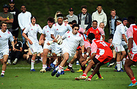 Taine Te Whata in action during the international rugby match between  New Zealand Schools Barbarians and Tonga Schools at the Sport and Rugby Institute in Palmerston North, New Zealand on Thursday, 28 September 2017. Photo: Dave Lintott / lintottphoto.co.nz