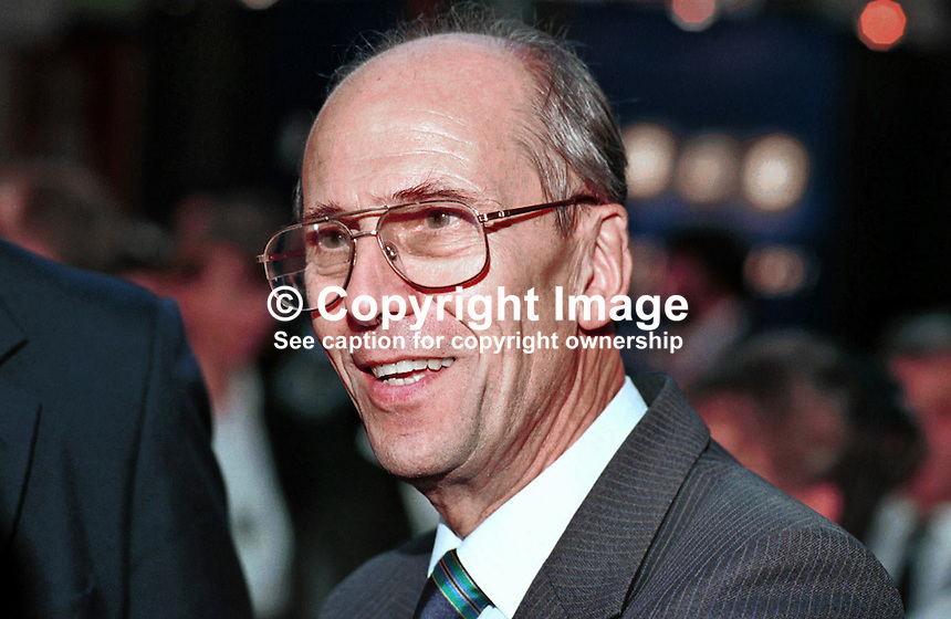Lord Tebbit, aka Norman Tebbit, Conservative Party, Life Peer, Former MP, former Cabinet Minister,1995, Annual Conference, Blackpool,199510085.<br />