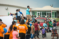 NWA Democrat-Gazette/BEN GOFF @NWABENGOFF<br /> The parade arrives Friday, May 25, 2018, during the opening ceremony for the 39th annual Republic of the Marshall Islands Jemenei (Constitution) Day celebration at the Jones Center in Springdale. The celebration continues Saturday with basketball, baseball and other sporting events.