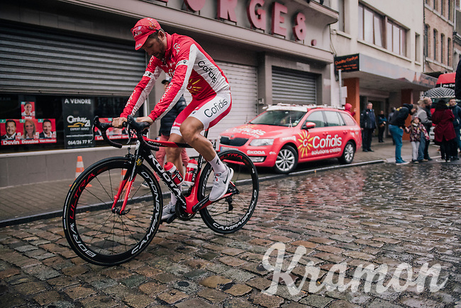 Julien Simon (FRA/Cofidis) to the start<br /> <br /> 2018 Binche - Chimay - Binche / Memorial Frank Vandenbroucke (1.1 Europe Tour)<br /> 1 Day Race: Binche to Binche (197km)