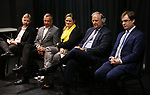 David Carpenter, Michael Alden, Themis Gomes, Stewart F. Lane and Hal Berman attends the Theater Resources Unlimited (TRU): Stream It and They Will Come: How Digital Capture Builds Audience Awareness at The Playroom Theatre on April 26, 2018 in New york City.