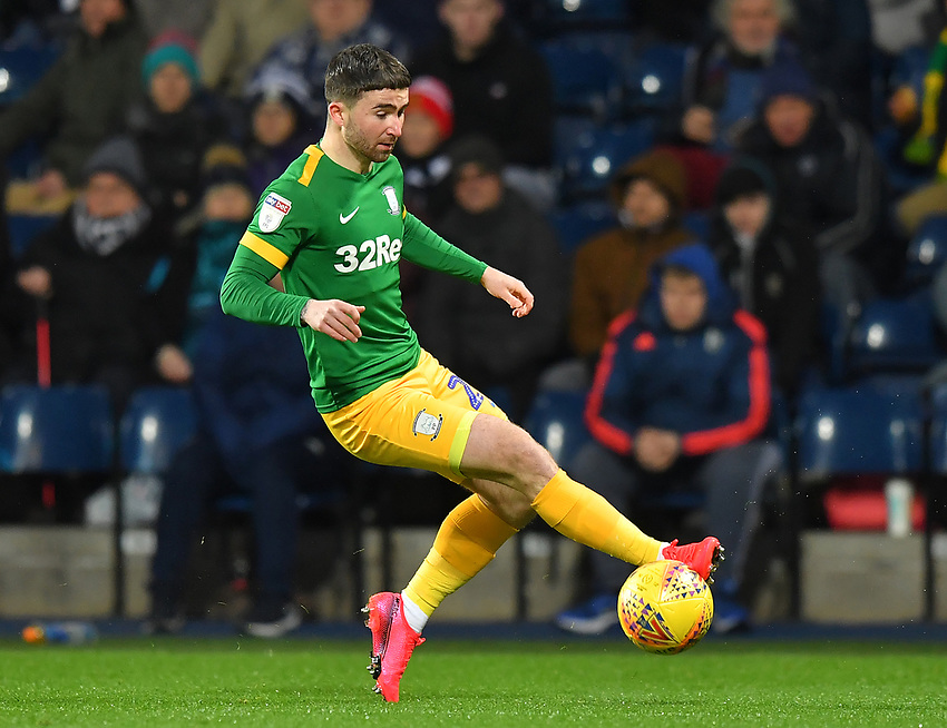 Preston North End's Sean Maguire <br /> <br /> Photographer Dave Howarth/CameraSport<br /> <br /> The EFL Sky Bet Championship - West Bromwich Albion v Preston North End - Tuesday 25th February 2020 - The Hawthorns - West Bromwich<br /> <br /> World Copyright © 2020 CameraSport. All rights reserved. 43 Linden Ave. Countesthorpe. Leicester. England. LE8 5PG - Tel: +44 (0) 116 277 4147 - admin@camerasport.com - www.camerasport.com