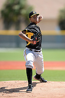 Pittsburgh Pirates pitcher Jose Batista (47) during an Instructional League intersquad scrimmage on September 29, 2014 at the Pirate City in Bradenton, Florida.  (Mike Janes/Four Seam Images)