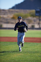 Jack Sanders (43), from Tacoma, Washington, while playing for the Padres during the Under Armour Baseball Factory Recruiting Classic at Red Mountain Baseball Complex on December 29, 2017 in Mesa, Arizona. (Zachary Lucy/Four Seam Images)