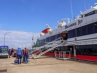 Katamaran Hamburg - Helgoland, im Südhafen Insel Helgoland, Schleswig-Holstein, Deutschland<br /> catamaran Hamburg-Helgoland South Port Helgoland island, Schleswig-Holstein, Germany, Europe